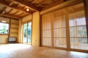 郷の家01 無垢材をふんだんに使った自然素材の家