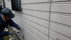 外壁のサイディングの解体作業