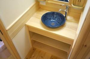 無垢材で作る造作洗面化粧台埼玉県狭山市
