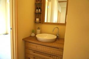 木製オリジナル洗面化粧台