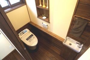 リフォーム所沢市トイレ手洗いカウンター