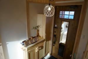 天然木の家玄関ホール