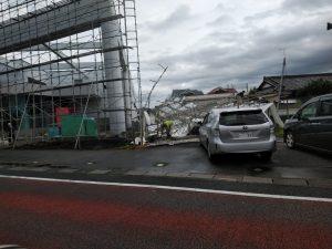 所沢市の足場の倒壊現場