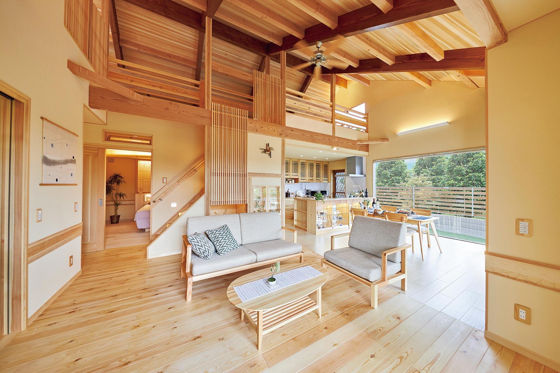 天然木のひらやの家